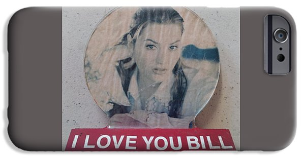Love Sculptures iPhone Cases - I love you Bill 9 iPhone Case by William Douglas
