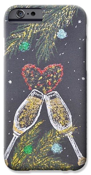 Christmas Greeting iPhone Cases - I Love You iPhone Case by Georgeta  Blanaru