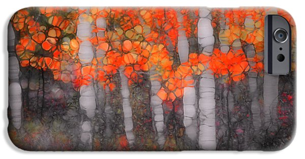 Nature Abstract iPhone Cases - I Love You in Orange iPhone Case by Tara Turner