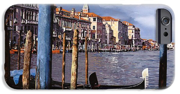 Venice iPhone Cases - I Pali Blu iPhone Case by Guido Borelli