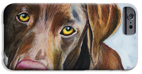 Mixed Labrador Retriever iPhone Cases - I Really Rather Be Playing iPhone Case by Roger Wedegis