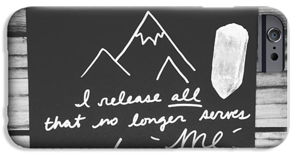 Buddhist iPhone Cases - I release all that no longer serves me iPhone Case by Tiny Affirmations