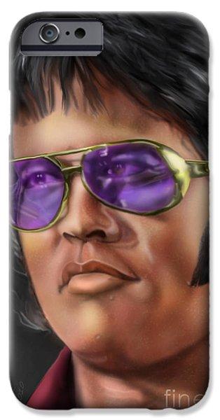 Elvis Presley Paintings iPhone Cases - I Remember Elvis iPhone Case by Reggie Duffie