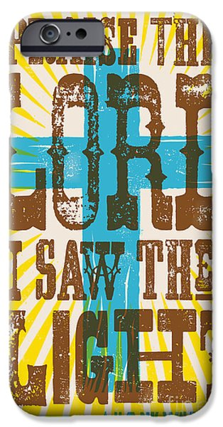 Crucifix iPhone Cases - I Saw The Light Lyric Poster iPhone Case by Jim Zahniser
