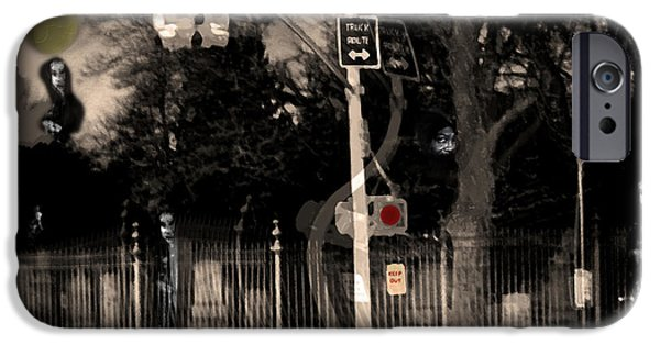 Cemetary Digital Art iPhone Cases - I See Dead People iPhone Case by Madeline Ellis