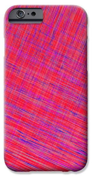 Abstract Digital Tapestries - Textiles iPhone Cases - I Thought it was Plaid iPhone Case by Suzi Freeman