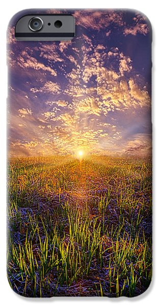 Field. Cloud iPhone Cases - I Wish I May I Wish I Migh iPhone Case by Phil Koch