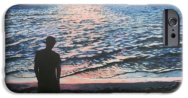 Figure iPhone Cases - Ians sunset iPhone Case by Anne Gardner