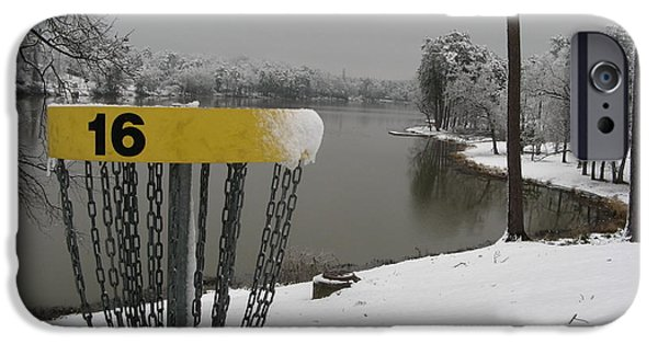 Snowscape Paintings iPhone Cases - Ice Bowl Lake Olmstead iPhone Case by Charles Kneiblher