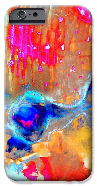 Abstract Digital Pastels iPhone Cases - Ice Cream iPhone Case by Jade Knights