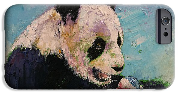 Michael Paintings iPhone Cases - Ice Cream iPhone Case by Michael Creese