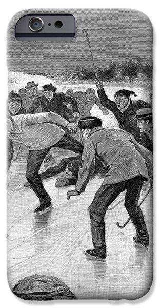 ICE HOCKEY, 1898 iPhone Case by Granger