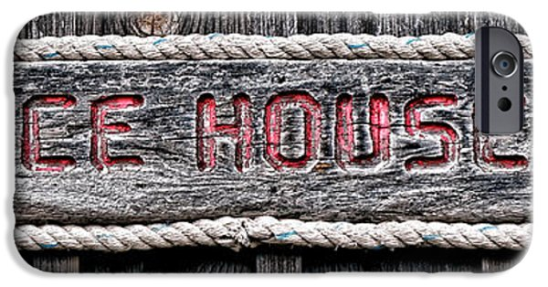 Shed iPhone Cases - Ice House iPhone Case by Olivier Le Queinec