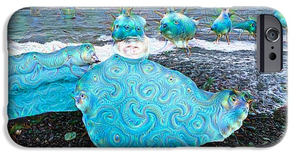Google Mixed Media iPhone Cases - Ice in Iceland surreal deep dream picture iPhone Case by Matthias Hauser