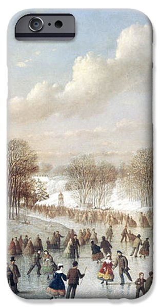ICE SKATING, 1865 iPhone Case by Granger
