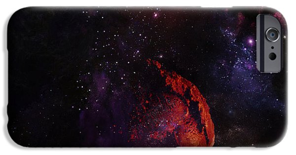 Vacation Digital iPhone Cases - Ice Space iPhone Case by Rrco