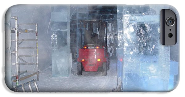 Building Glass iPhone Cases - Ice truck iPhone Case by Maria Joy