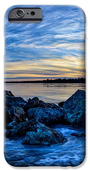 Icebound Sunset Panorama iPhone Case by Bill Caldwell -        ABeautifulSky Photography