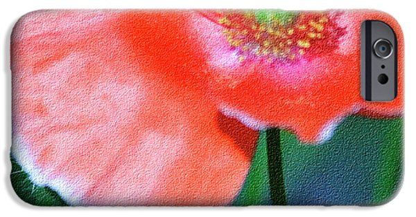 Macro Mixed Media iPhone Cases - Icelandic Poppy iPhone Case by Bonnie Bruno