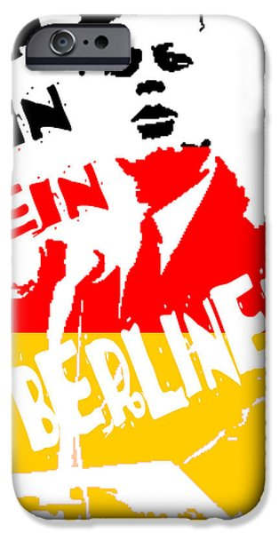 Spoof iPhone Cases - Ich Bin Ein Berliner iPhone Case by Jera Sky