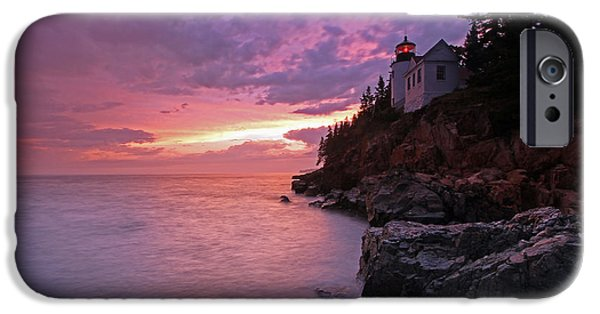 New England Lighthouse iPhone Cases - Iconic Bass Harbor Lighthouse iPhone Case by Juergen Roth