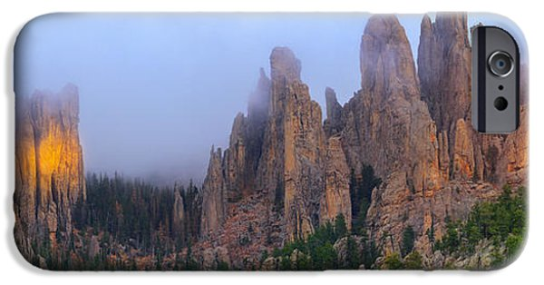Cathedral Rock iPhone Cases - Iconic Black Hills iPhone Case by Kadek Susanto