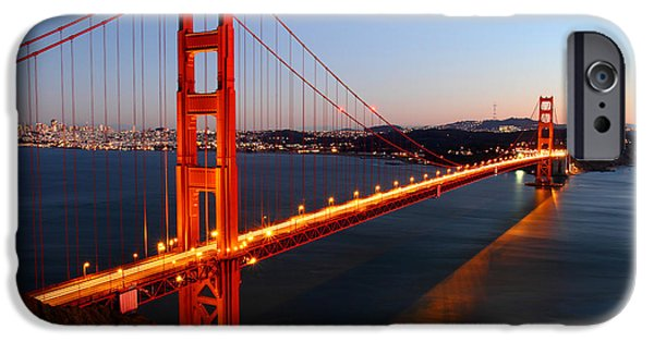 Cars iPhone Cases - Iconic Golden Gate Bridge in San Francisco iPhone Case by Pierre Leclerc Photography