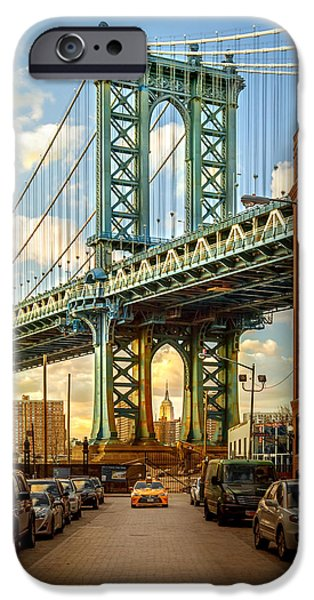 Buildings iPhone Cases - Iconic Manhattan iPhone Case by Az Jackson