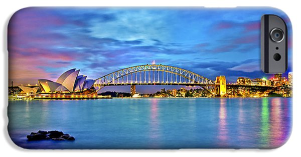 Business iPhone Cases - Icons Of Sydney Harbour iPhone Case by Az Jackson