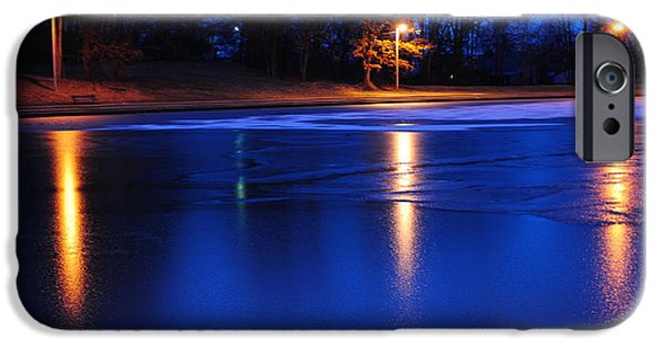 Willow Lake iPhone Cases - Icy Glow iPhone Case by Frozen in Time Fine Art Photography