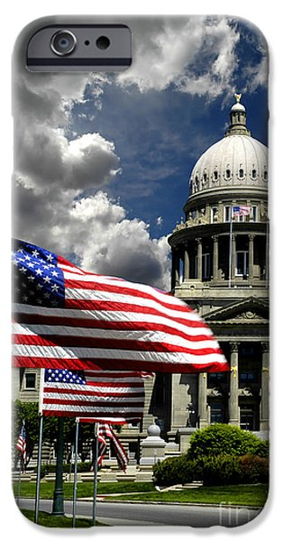 Patriots iPhone Cases - Idaho State Capital Building iPhone Case by Lane Erickson