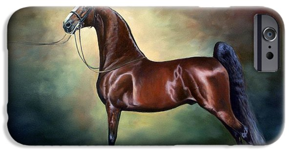 American Saddlebred Art iPhone Cases - Ideal Proportions iPhone Case by Jeanne Newton Schoborg