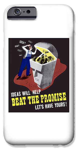 Worker iPhone Cases - Ideas Will Help Beat The Promise iPhone Case by War Is Hell Store
