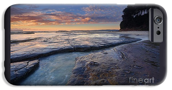 Red Rock iPhone Cases - Idyllic Plantation Point Jervis Bay iPhone Case by Leah-Anne Thompson