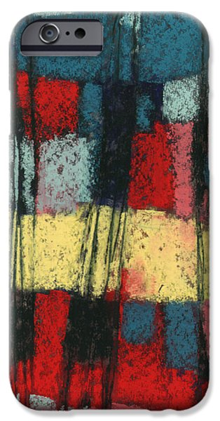 Abstractions Pastels iPhone Cases - If I Had a Ladder iPhone Case by Janine Aykens