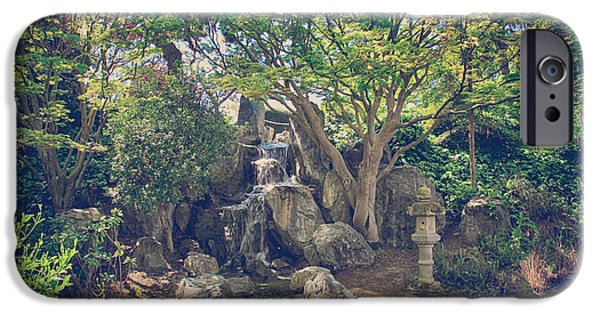 Japanese Garden iPhone Cases - If We Sat Here Together iPhone Case by Laurie Search
