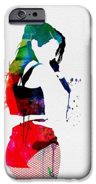 British Rock Star iPhone Cases - Iggy Watercolor iPhone Case by Naxart Studio
