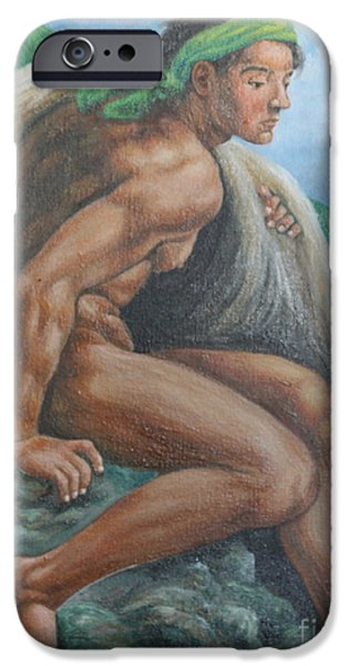 Michael Angelo iPhone Cases - Ignudo in Bicol iPhone Case by Manuel Cadag