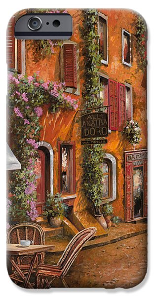 Relaxed iPhone Cases - Il Bar Sulla Discesa iPhone Case by Guido Borelli