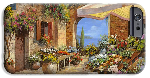 Arches iPhone Cases - Il Mercato Del Lago iPhone Case by Guido Borelli