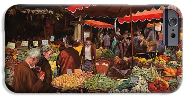 Best Sellers -  - Basket iPhone Cases - Il Mercato Di Quartiere iPhone Case by Guido Borelli