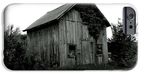 Old Barn iPhone Cases - Ill Wait  iPhone Case by Wild Thing