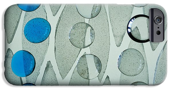 Blue Abstracts iPhone Cases - Illuminations 69 iPhone Case by Barbara Chase