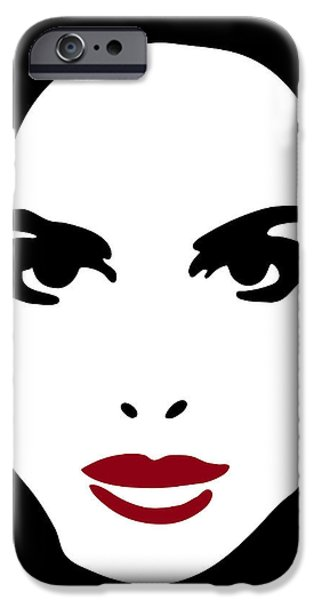 Model Drawings iPhone Cases - Illustration of a woman iPhone Case by Frank Tschakert