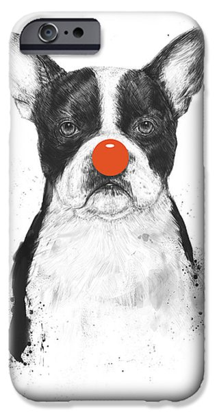 Dogs iPhone Cases - Im not your clown iPhone Case by Balazs Solti