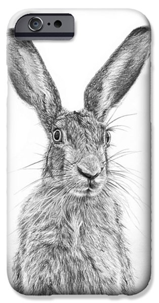 March Hare iPhone Cases - Im Over Hare iPhone Case by Frances Vincent