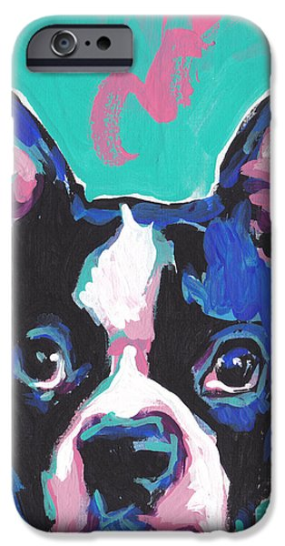 Dogs iPhone Cases - Im The Boss...ton iPhone Case by Lea