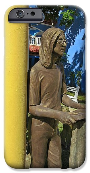Beatles Sculptures iPhone Cases - Imagine iPhone Case by John Malone