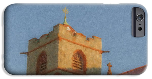 Mcentee Paintings iPhone Cases - Immaculate Conception Church Easton MA iPhone Case by Bill McEntee