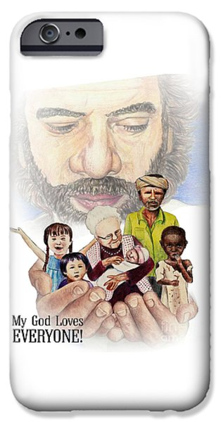Son Of God Drawings iPhone Cases - Immeasurable Love iPhone Case by Rhoda Weber